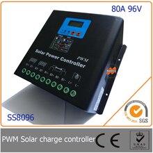 80A 96 В ШИМ Солнечный Контроллер Зарядки со СВЕТОДИОДОМ и ЖК-Дисплей, автоматическое Определение Напряжения, MCU дизайн с высокой производительностью