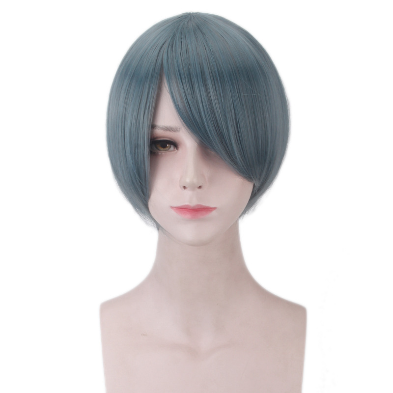 Anime Black Butler Ciel Phantomhive Men Short Wig Cosplay Costume Book of the Atlantic Synthetic Hair Halloween Party Wigs
