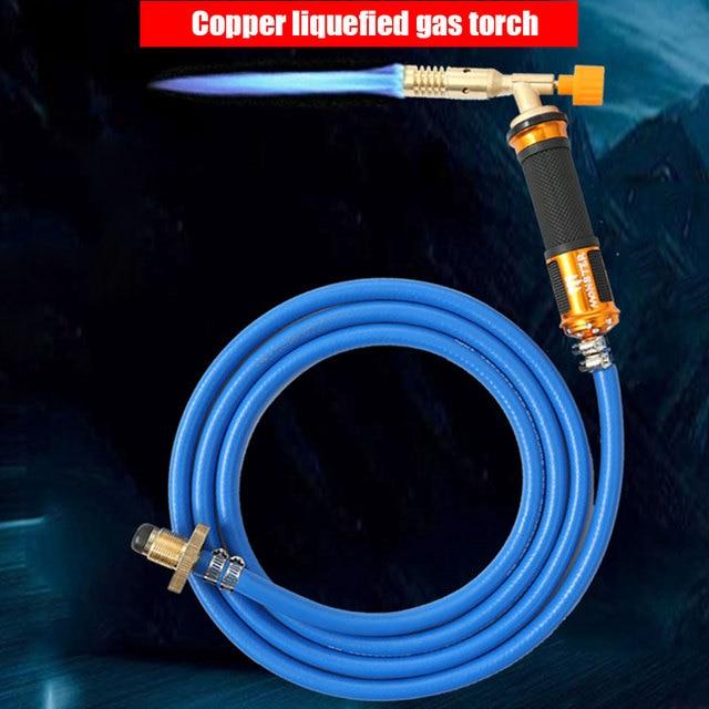 אלקטרוני הצתה נוזלי ריתוך גז לפיד נחושת עם פיצוץ הוכחה צינור ריתוך אש אקדח עבור אינסטלציה מיזוג אוויר