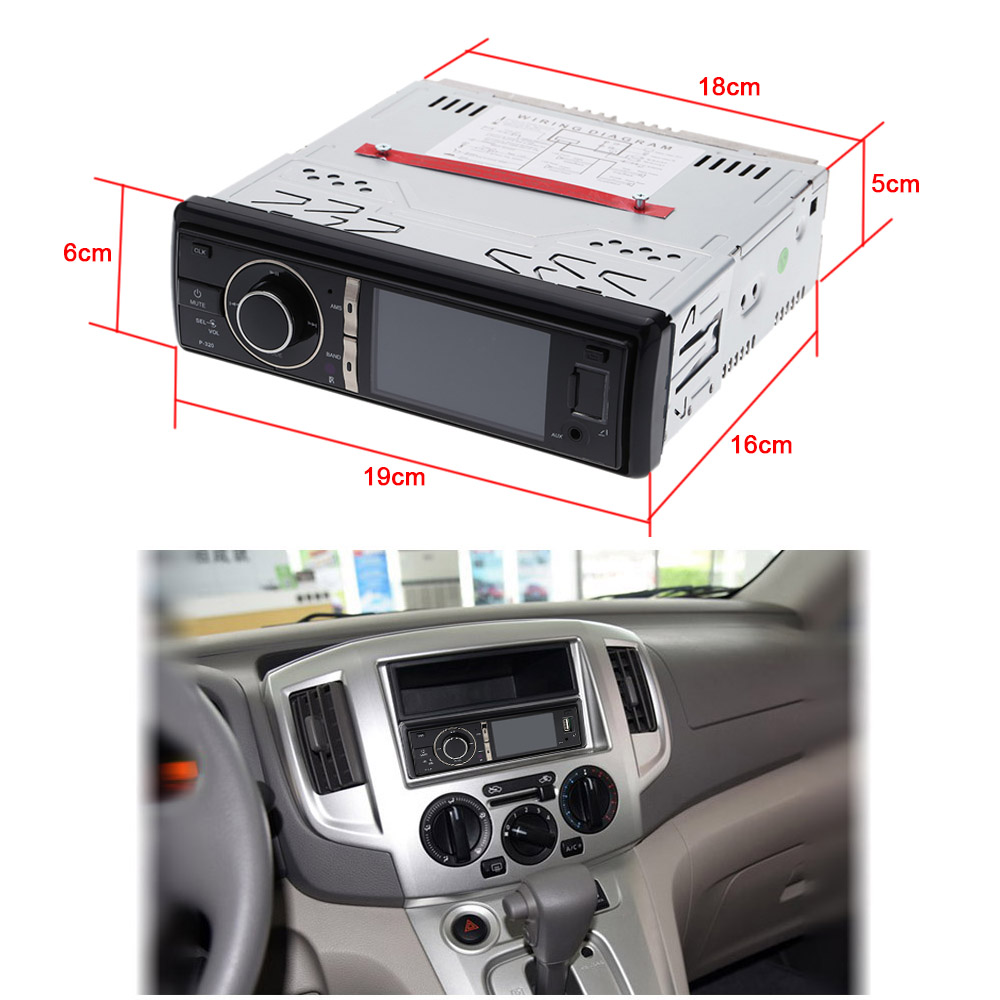 1 DIN Car Stereo Radio Audio Player Receiver FM Aux CD DVD WMA MP3 Player USB SD Slot Detachable Panel for Sedan SUV Truck etc цена