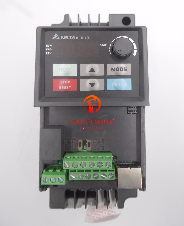 Delta Inverter VFD Variable Frequency Drive VFD007EL43A 3Phase 380V 075KW 1HP 01~600Hz Water