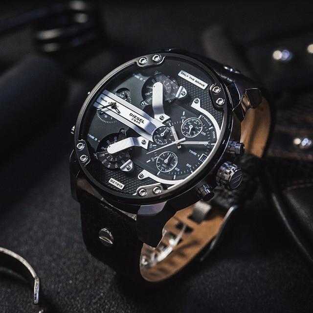 08f7c2805451 Diesel reloj relojes y relojes de moda de los hombres y de ocio de cuarzo  reloj
