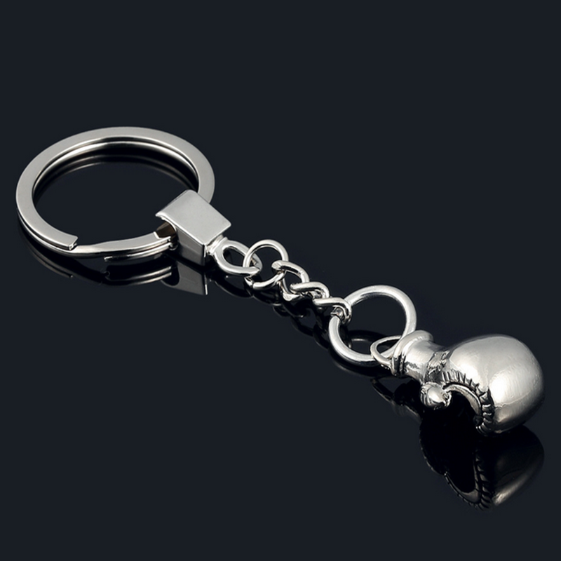 Cool Cute Boxing Gloves Key Chain Bag Pendant Key Ring Sport Key Chain Fist Keychain Boxer Golvers Keychain P3 цена
