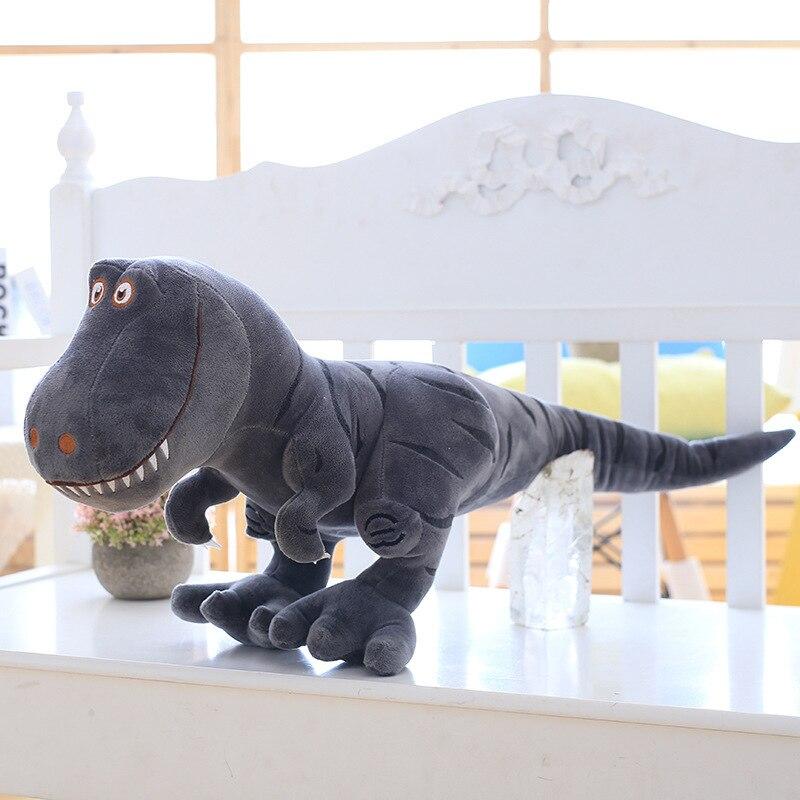 1 шт., 40-100 см, новинка, динозавр, плюшевые игрушки, мультяшный тираннозавр, милая мягкая игрушка, куклы для детей, для мальчиков, подарок на день рождения - Цвет: Серый