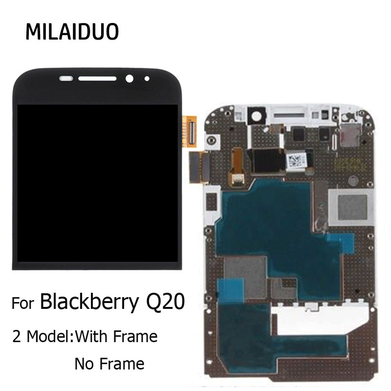Original LCD Display For Blackberry Classic Q20 Touch Screen Digitizer Assembly Replacement Parts White Black With Frame