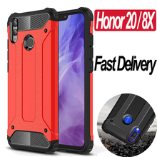 Anti-Shock Armor Phone Case For Honor 20 Honor 8X Plastic Case Silicone PC Rugged Cover Honor 20 8X Luxury Rigid Full Case цены