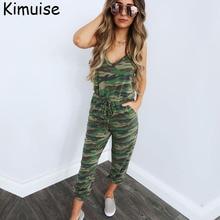 Kimuise camouflage jumpsuits for women rompers sexy off shoulder bodysuits drawstring ukrain overalls female jumpsuit off shoulder drawstring waist plasuit