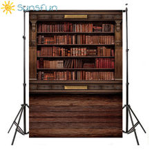 Sunsfun 5x7ft Book Shelf in Library Graduation Season Background for Photo Studio 220x150cm(China)