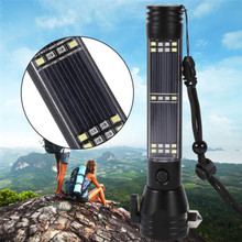 Outdoor Safety Hammer Solar Power Flashlight Emergency Rescue Tool Lamp Light ES Bike Cycling Accessories High Quality Jane 26