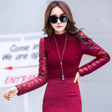 Buy Sweater With Leather Sleeves And Get Free Shipping On Aliexpresscom