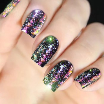 Colorful Chameleon Aurora Laser Nail Art Mirror Sequins Star Foil Paillette Irregular Glitter Powder Flakes UV Gel Decoration L8 Rhinestones & Decorations