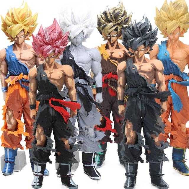 6 estilos 34 cm Mangá Dimensões Super Saiyan Goku Figura Mestre Estrelas Pedaço Coleção Modelo Brinquedos De Dragon Ball Z brinqudoes ser