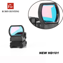 цены HD101 Hunting Rifle Scope Red Dot Optical Sight 11/20mm Mount Pistol Airsoft Air Guns Reflex Rifle Scopes Holographic Sight