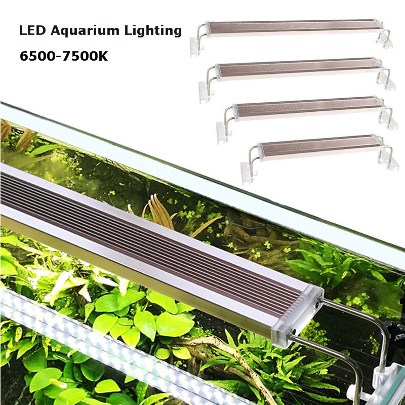 220v ADE Series Aquarium LED Lighting 12-24W LED Overhead Fish Tank Aquatic Plant SMD LED Grow Light 6500-7500K
