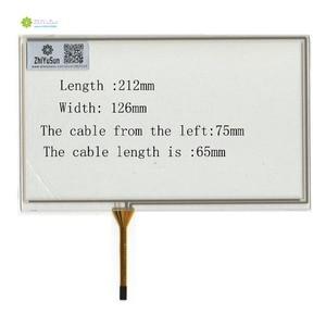 ZhiYuSun KDT-4236 GT 9inch 4 line touch screen panel 212mm*126mm TouchSensor FreeShipping wdth 126mm length212mm