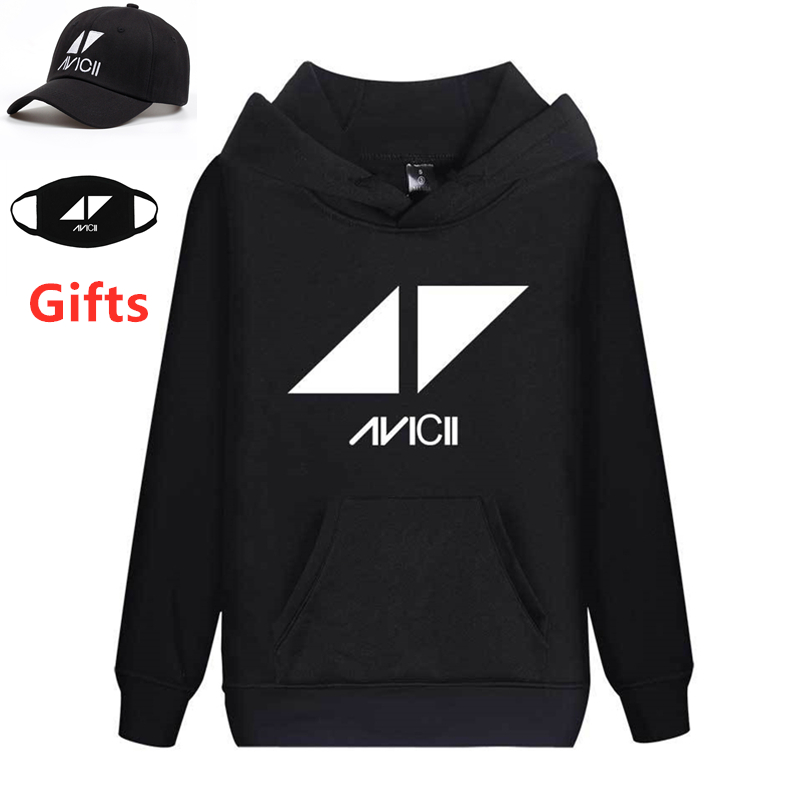 Cap&Mask As Gifts DJ AVICII Hoodies Men Women Sweatshirts Hip Hop Rapper Bboy Dancer Hooded Jacket Coat Outwear Tracksuits