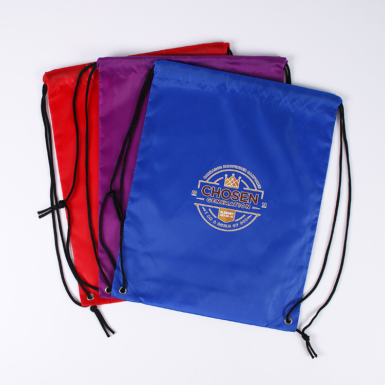 High Quality Wholesale Promotional Heavy Duty 210D polyester Sport Drawstring Backpacks
