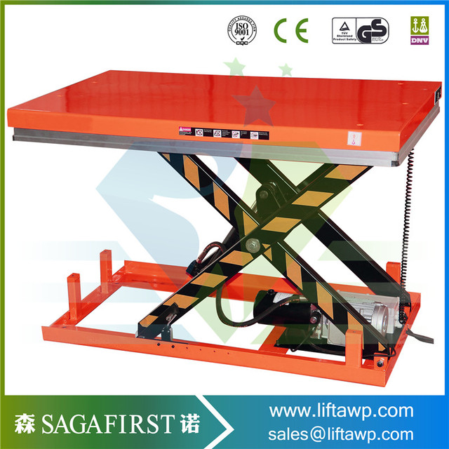 1ton 2.5ton 3ton Cargo Hydraulic Lift Table Pallet Scissor Lift