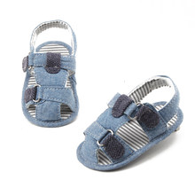 2019 New Design Baby Sandals Green Stripe Summer Sandals For (0-18) Months Baby Shoes(China)