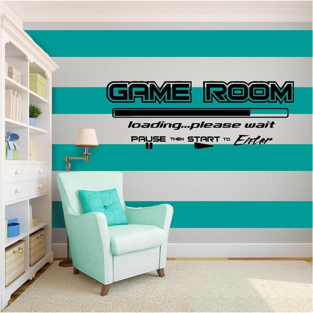 Game Room Vinyl Wall Art quote Home Decor Decal Words & Phrases Matte Black free shipping