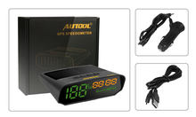 AUTOOL X100S Universal Car HUD GPS Head Up Display KM/h MPH Overspeed Auto Warning Altitude Speedometer Electrical Instruments(China)