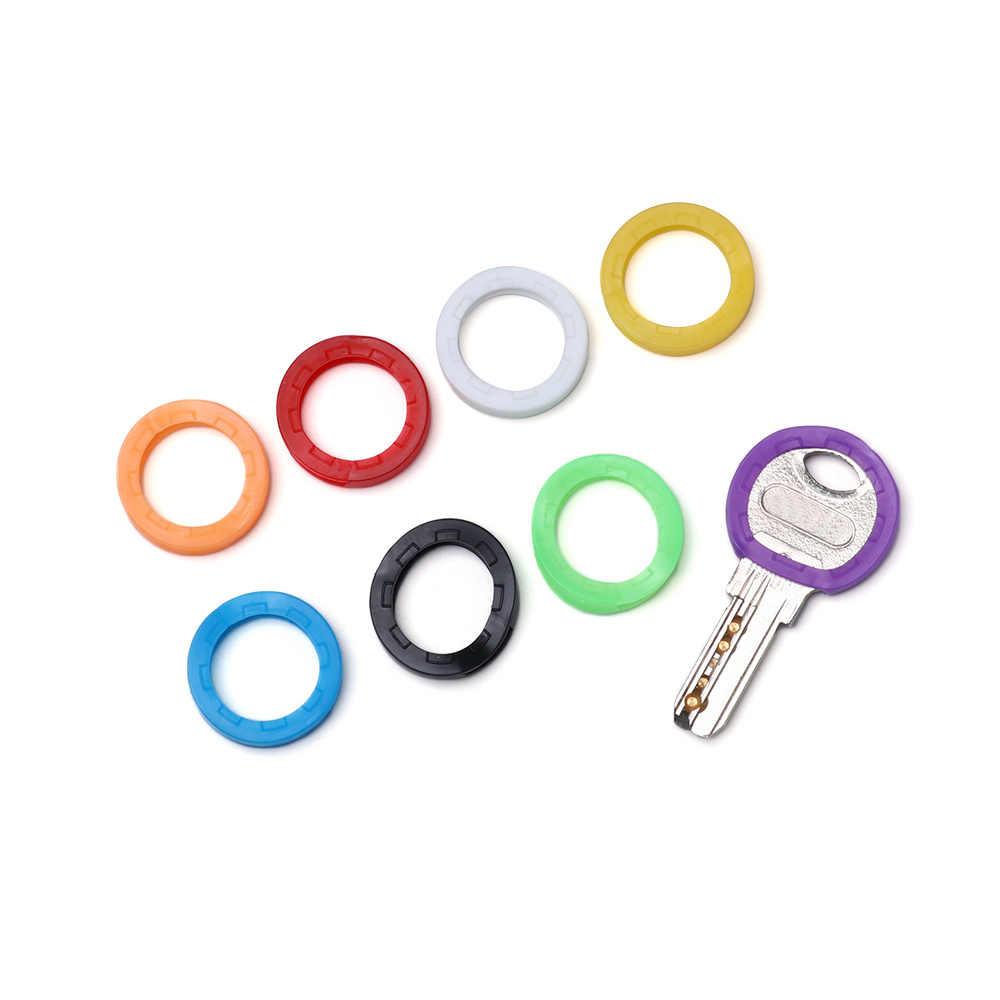 8 pçs cor aleatória oco silicone chave tampa cobre topper chave titular elástico chaveiro anéis caso chave saco organizador carteiras 2019 quente