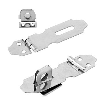 4Pcs Home Drawer Door Safety Padlock Latch Hasp Staple Stainless Steel NO 5 tanie i dobre opinie OOTDTY NONE Elektryczne CN (pochodzenie)