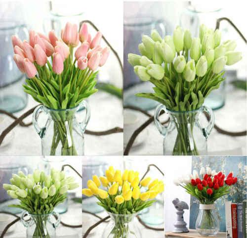 1 Buah Rumah Dekorasi Buatan Palsu Tulip Sutra Bunga Taman Kamar Ivy Vine Gantung Garland Pernikahan Dekorasi Pesta