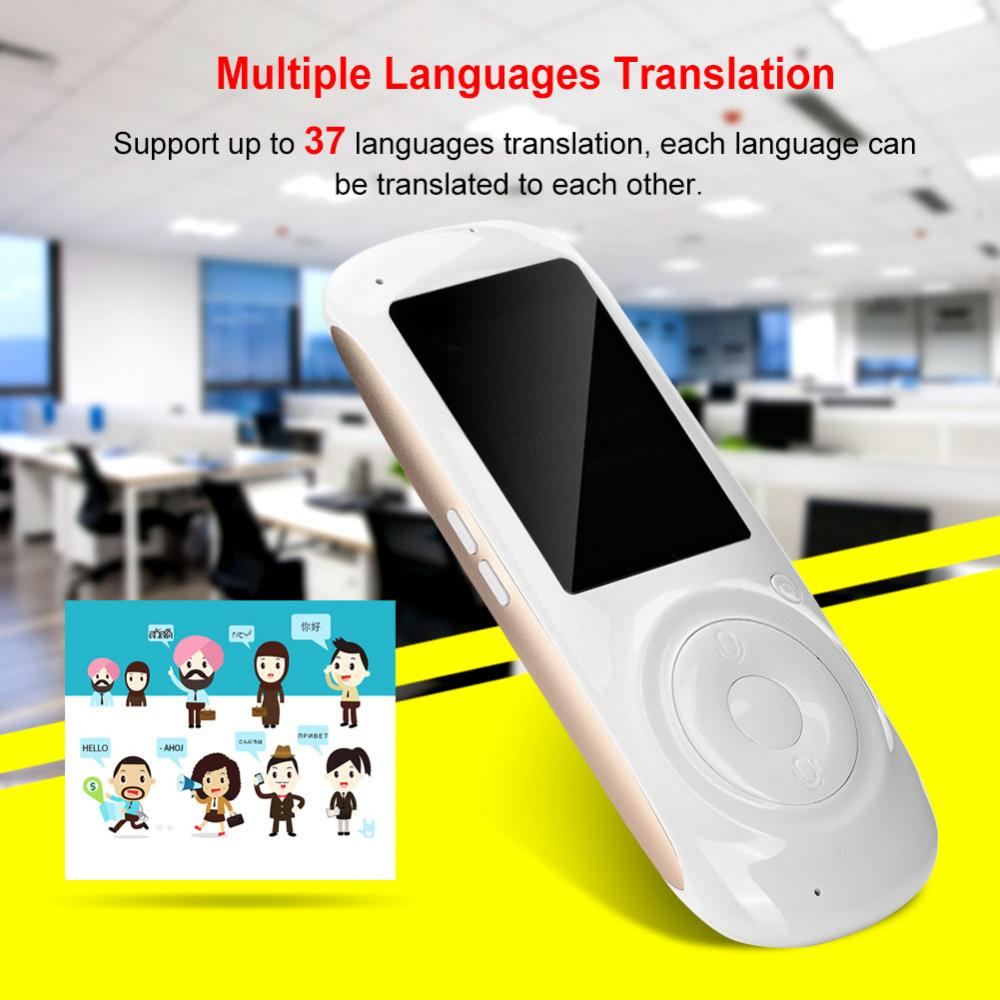 Portable 37 Language IPS Screen Real Time Wifi Smart Voice Translator Screen Tourism Shopping Conversation Meetings