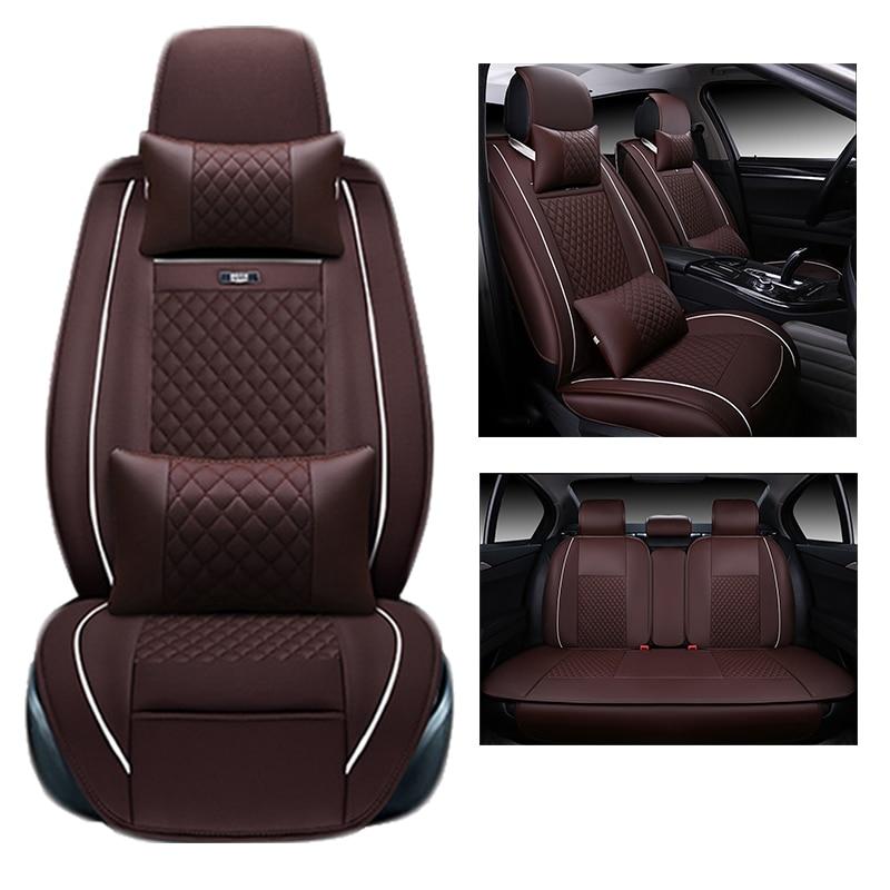 Per TOYOTA Corolla RAV4 Highlander PRADO Yaris Prius Camry in pelle copertura di sede dell'automobile anteriore e posteriore Completo ammortizzatore dell'automobile set copertura