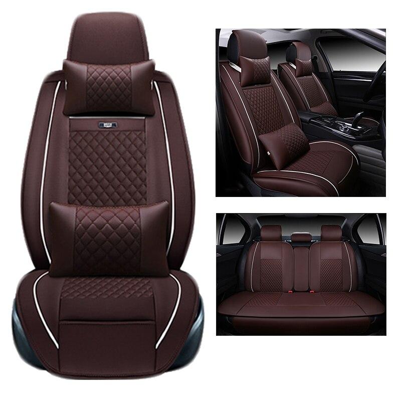 Pour TOYOTA Corolla RAV4 Highlander PRADO Yaris Prius Camry en cuir voiture housse de siège avant et arrière ensemble Complet de voiture coussin couverture