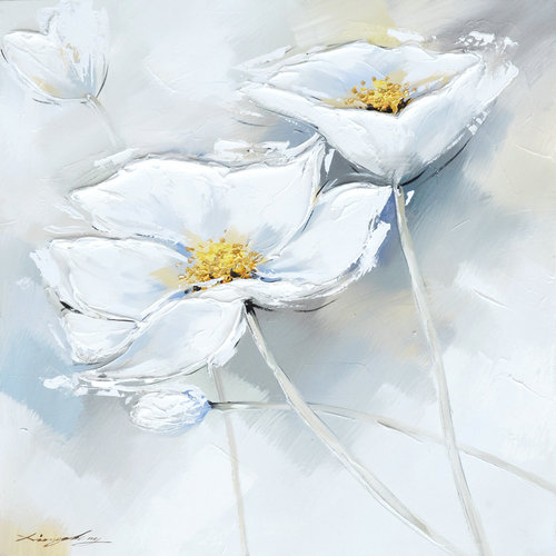White flower wall picture handmade hand painted oil painting on white flower wall picture handmade hand painted oil painting on canvas for living room hanging in painting calligraphy from home garden on mightylinksfo
