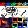 Waterproof IP65 30/50/100/150/200CM 3528 LED Strip Lights DC5V USB Flexible TV Back Lighting Kit Switch 0.08W