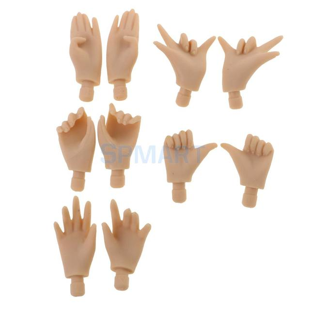 5 Pairs Joints Mixed Pose Movable Body\'s Hand For Blythe Doll DIY ...