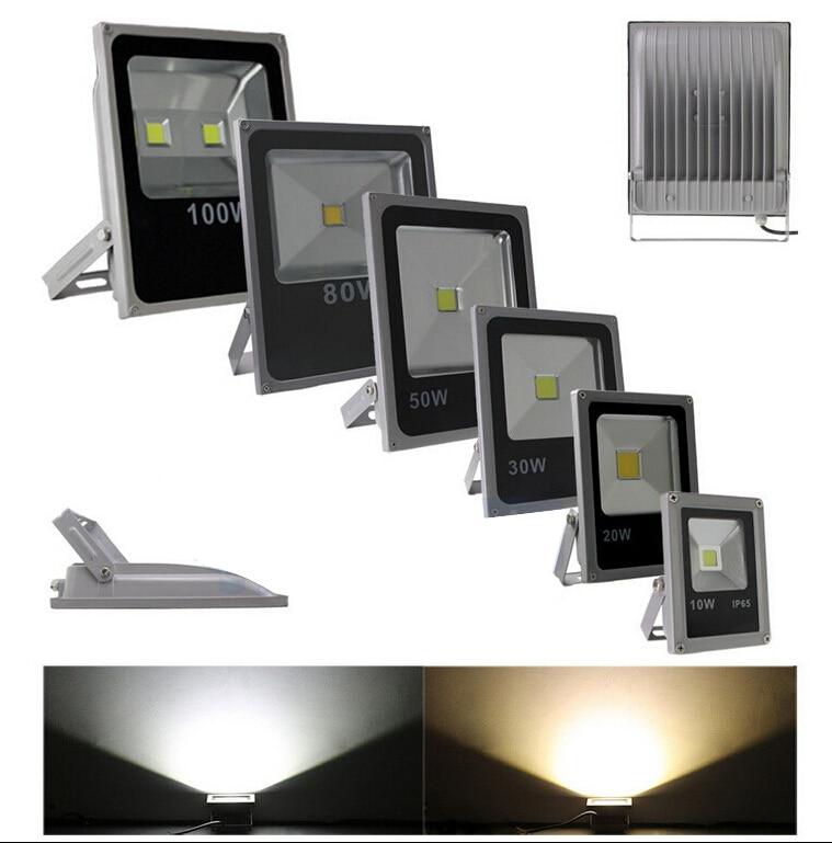 (10pcs/lot) 85-265V 10W 20W 30W 50W 70W 100W 120W 150W 200W LED Flood light lamp outdoor LED floodlight landscape spot light