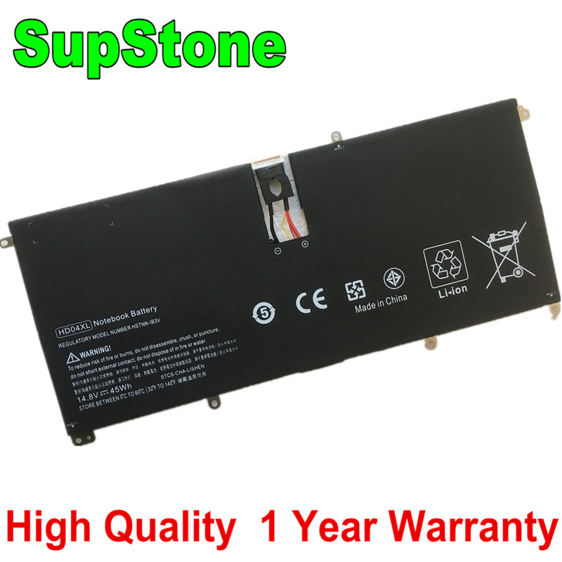 SupStone HD04XL Battery For Hp Envy Spectre 13-2021tu 13-2000eg Xt 13-2120tu 685989-001 HSTNN-IB3V Laptop Battery 14.8V 45Wh
