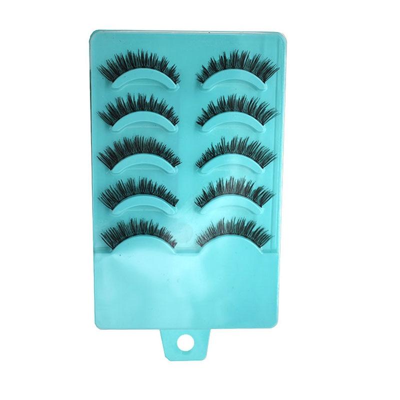 10Pairs Professional Makeup Tips Natural Cross Thick Fake Eyelashes False Eyelashes Artificial Eyelashes False Lashes Extension