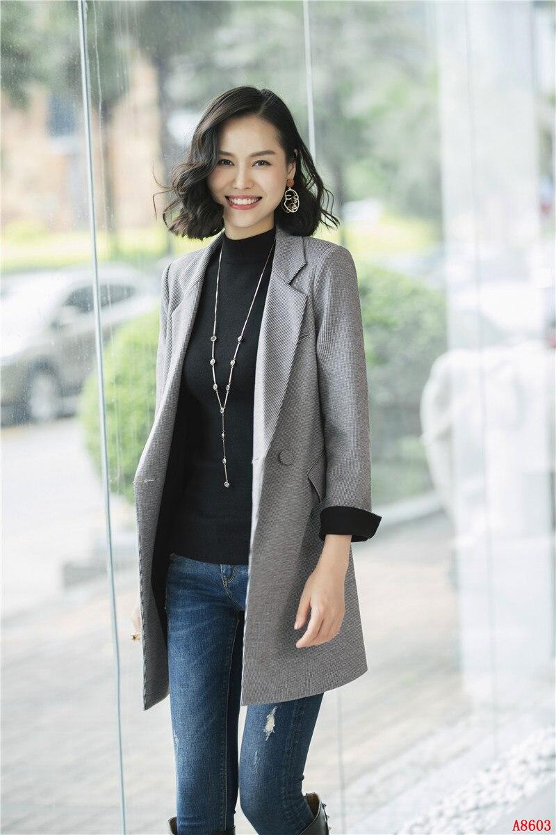 Ol Gris Style Mode Long gris Noir Manteau Blazer Survêtement Vêtements Dames Femmes Tranchée Casual Automne Bureau OTgwnq7X7