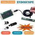 2 в 1 для Android и ПК USB Эндоскопа Инспекционной Камеры 5.5 ММ Диаметр 6LED & Accessaries Водонепроницаемый Инспекции Borescope Камеры