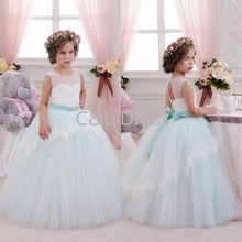 Cheap 2016 Lovely Flower Girl Dresses With Sashes Short Princess Communion Kids Prom Wedding Party Pageant Dresses