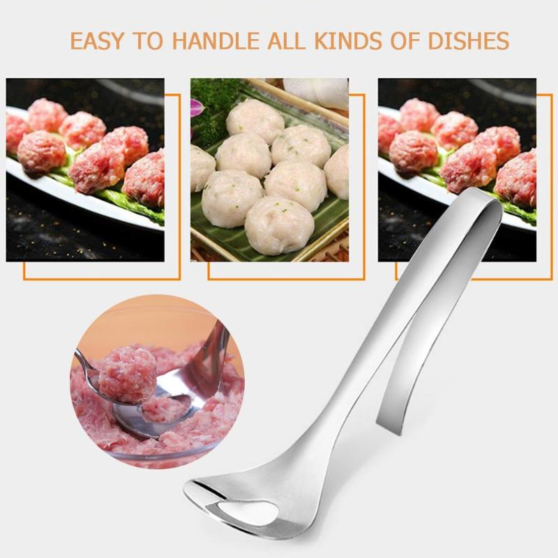 Non-Stick Kitchen Meatball Maker Stainless Steel Kitchen Meat Ball Spoon DIY Fish Meat Meatballs Spoon Mold Tools