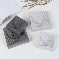 Square Ashtray Concrete Silicone Mold Candle Holder Creative Plaster Gypsum Mould For Decoration Flowerpot Cement Clay Molds