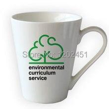 11oz  V shape ceramic custom mug, coffee mugs with logo