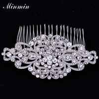 Clear Austrian Crystal White K Plated Hair Combs Hair Jewelry For Women Hairpins Hair Accessory For