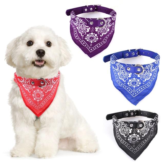 4 tamaño ajustable Collar de perro cachorro gato bufanda Collar para ...
