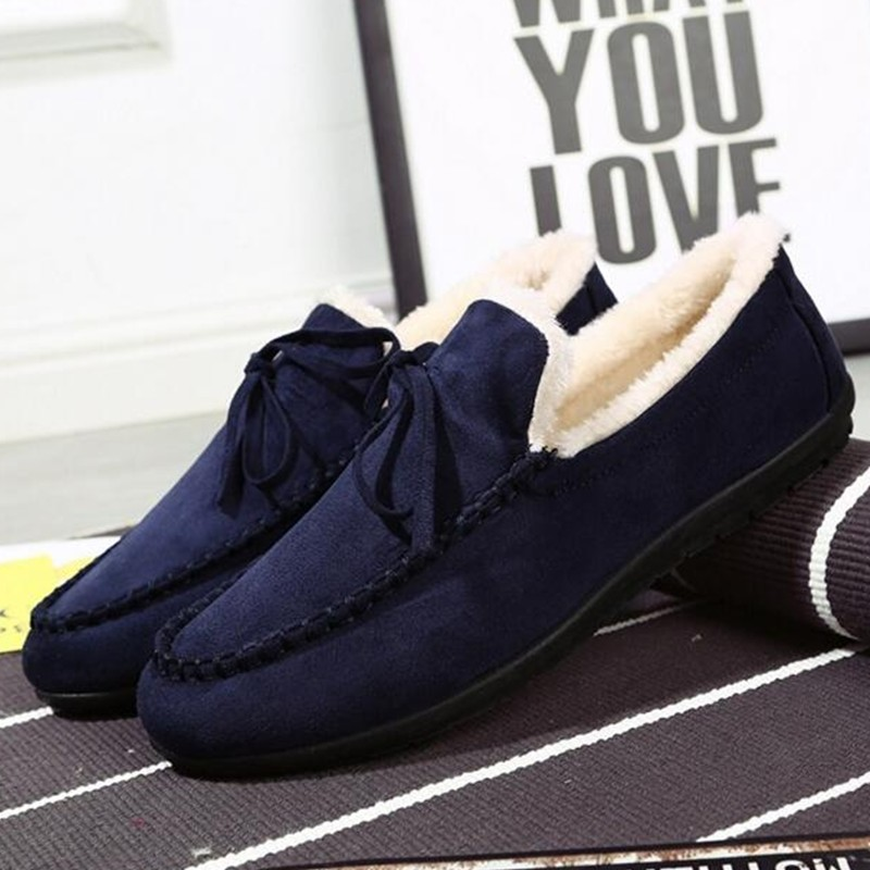 De Terciopelo Cálido Nieve Oxfords Los blue Zapatos Libre Hombres red Al Aire 2019 Black Trabajando Invierno Casuales Tobillo d8qd0