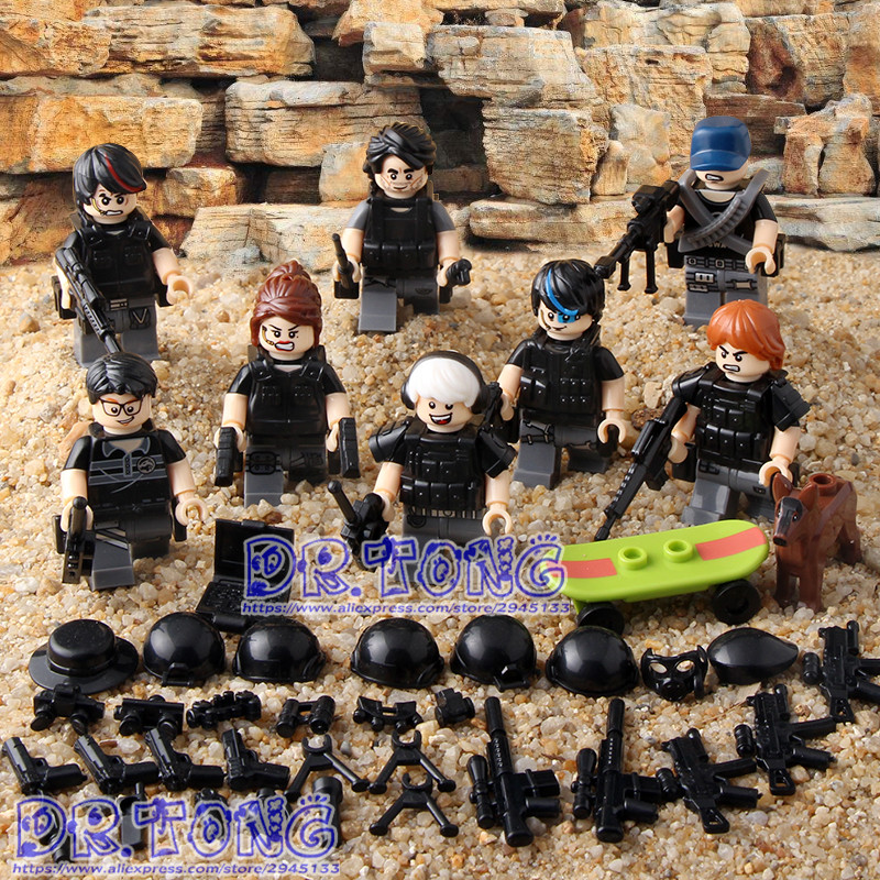 DR.TONG 80pcs/lot 11592-11597 MILITARY Soldier Army Weapon Building Blocks Brick MILITARY Figures Educational Toys Children Gift hot compatible legoinglys military building blocks soviet union missile tank weapon army figures brick toys for children gift