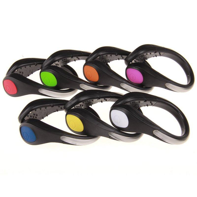 Купить с кэшбэком 1 Pcs Useful Outdoor Tool LED Luminous Shoe Clip Light Night Safety Warning Bright Flash Light For Running Cycling Bike