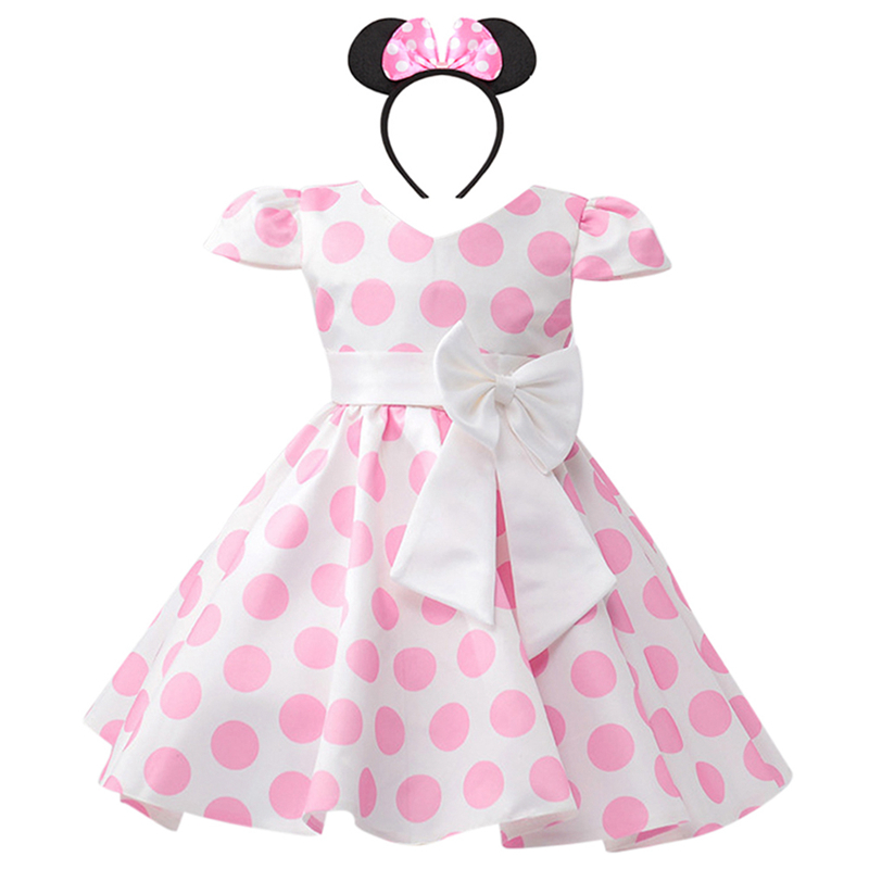 Minnie Mouse Dress for Girls Birthday Photo Shoot Kids Minnie Cosplay Party Polka Dots Minnie Dress 2pcs Set Kid Girl ClothesMinnie Mouse Dress for Girls Birthday Photo Shoot Kids Minnie Cosplay Party Polka Dots Minnie Dress 2pcs Set Kid Girl Clothes