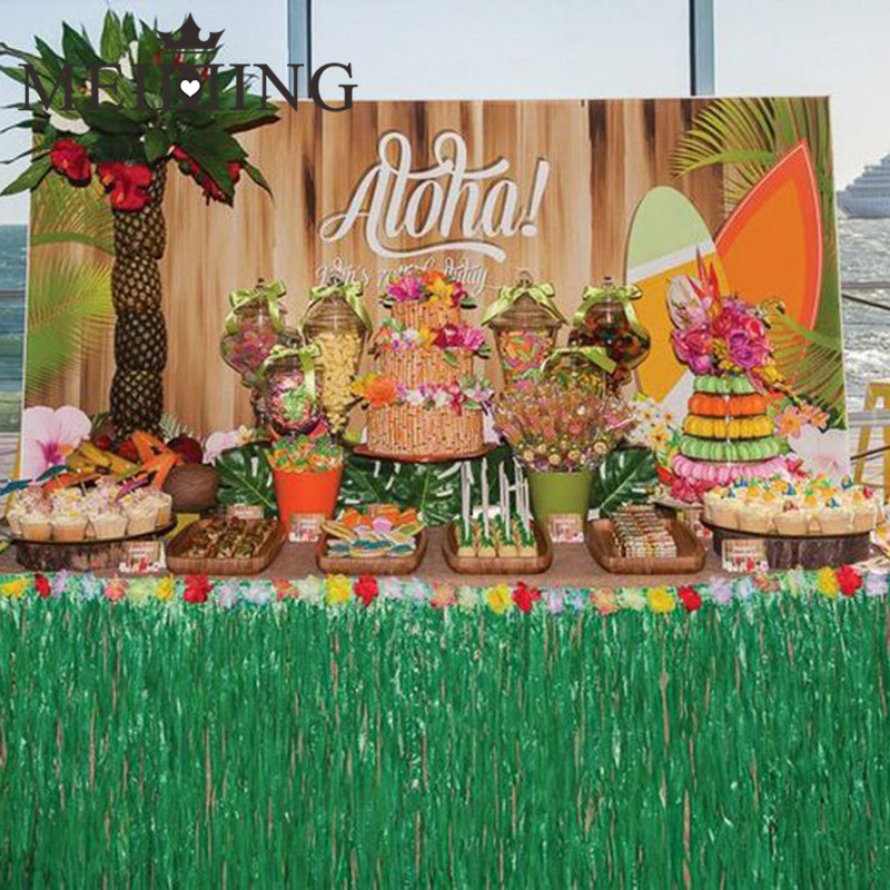 Buy meidding hawaiian luau grass table for Hawaiin decorations